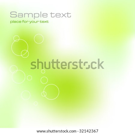 Green Ecological Background