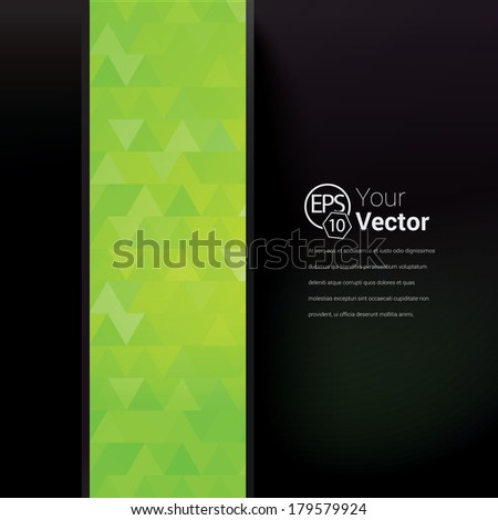 Green  edition of a 3d abstract minimal edgy green illuminating  network composition, scalable eps10 vector background for infographics, for webdesign, cover design, digital  print or any media - stock vector