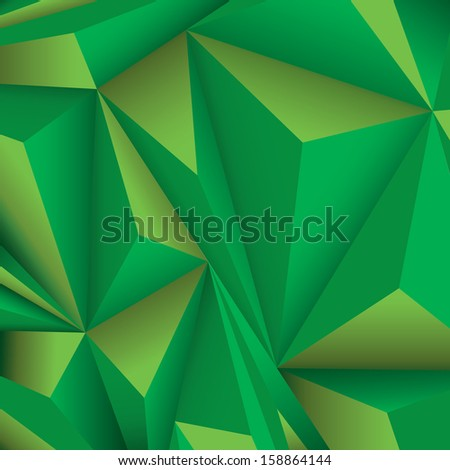 Green edition of a scalable eps10 abstract geometric 3d triangle design  background composition  for universal use - stock vector
