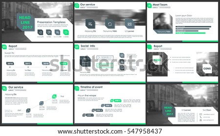 Green elements for infographics on a white background. Presentation templates. Use in presentation, flyer and leaflet, corporate report, marketing, advertising, annual report, banner.