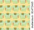 green elephants seamless pattern - stock vector