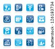 Green energy and environment icons - vector icon set - stock vector