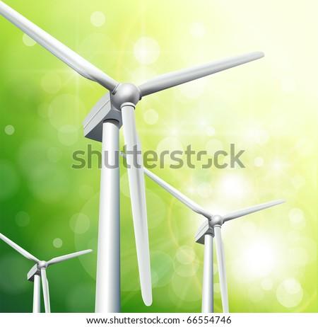 Green energy concept background, vector. - stock vector
