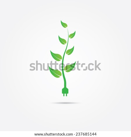 Green energy concept. Vector illustration in EPS10. Included high resolution jpg file.