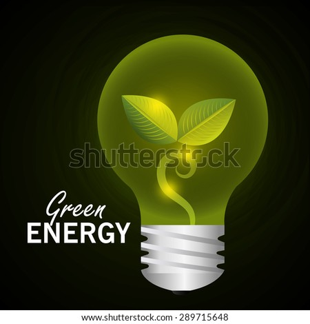 Green energy design, vector illustration eps 10.