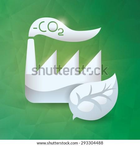 Green energy design, vector illustration eps 10. - stock vector