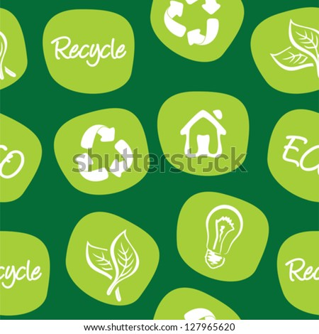 green environment and recycle background - stock vector
