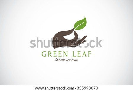 Green environment logo, nature, beauty spa and organic concept - stock vector