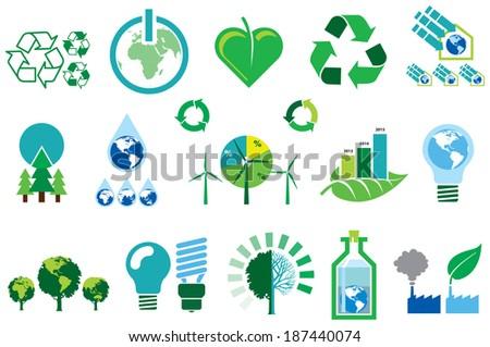 Green Environmental Info graphics - stock vector