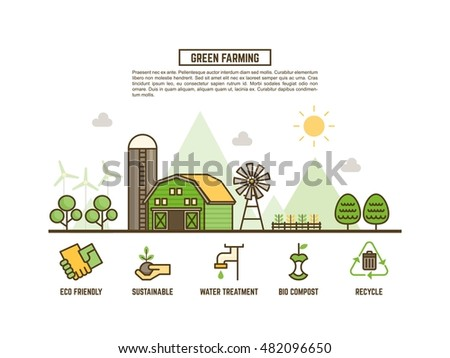 green farming concept for ecology web banner