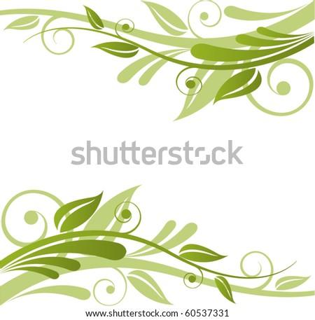 Green Flora Vector Design - stock vector