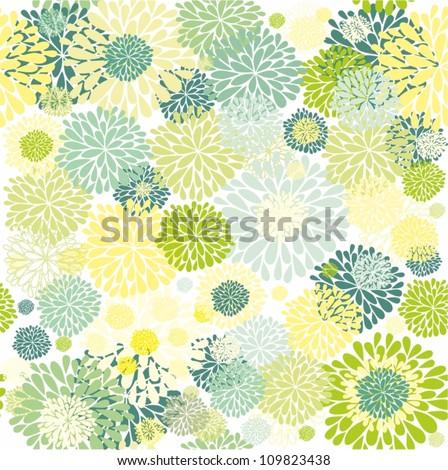 green floral design - stock vector