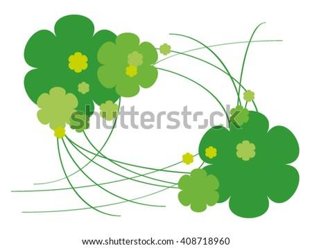 Green flowers. - stock vector