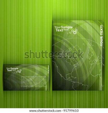 Green Flyer Design - Nature - stock vector