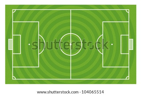 Green football field vector template - stock vector