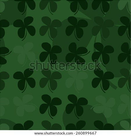 Green four leaf clover seamless background