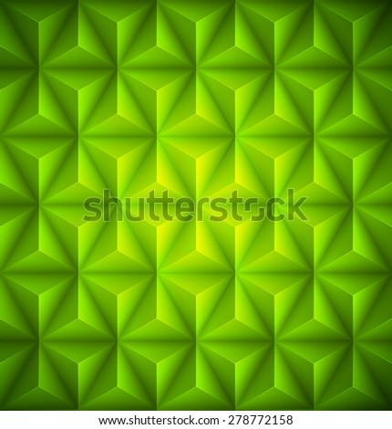 Green Geometric abstract low-poly paper background. Vector illustration EPS 10 - stock vector