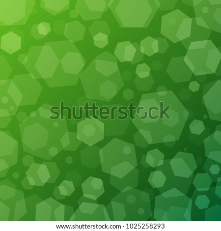 Green Geometric Abstract Techno Background With Hexagons Template Wallpaper Design Simple Gradient