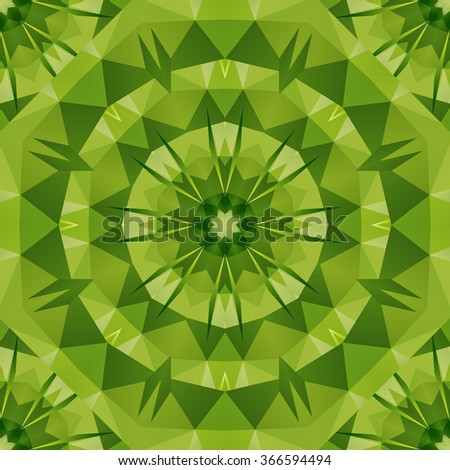 Green geometric rumpled triangular low poly origami style gradient illustration graphic background. Vector polygonal design for your business. - stock vector
