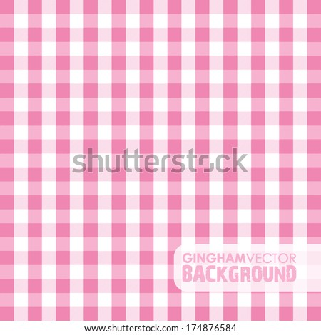 green gingham background - stock vector