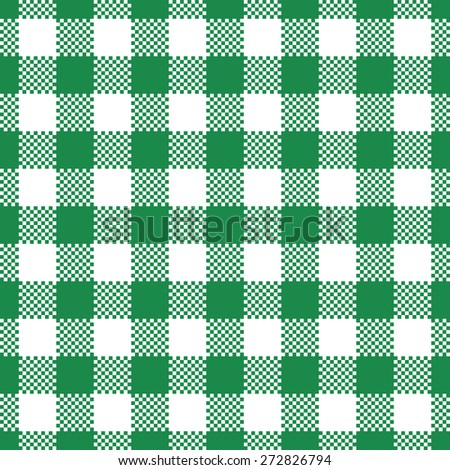 green gingham tablecloth, seamless pattern background