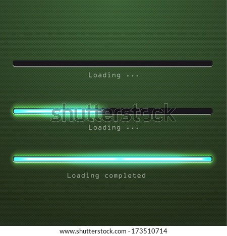 green glossy download.Vector illustration for your design. - stock vector