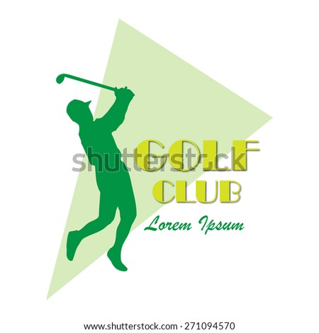Green golf vector logo