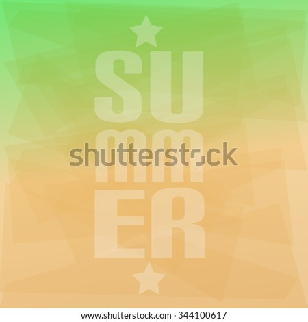 Green Gradient Background With Scratches Summer Label