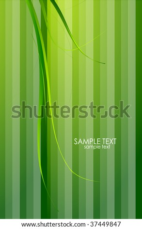 Green grass and green stripes. Vector background