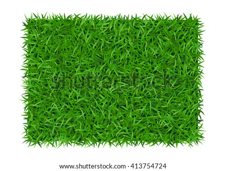 Green grass background. Lawn nature. Abstract field texture. Symbol of summer, plant, eco and natural, growth or fresh. Design for card, banner. Meadow template for print products. Vector Illustration - stock vector