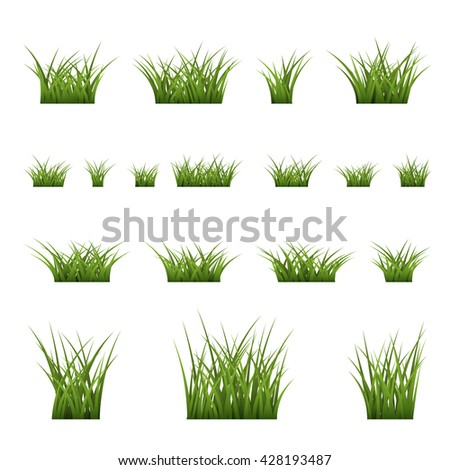 realistic grass collection vector backgrounds stock