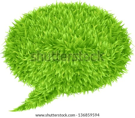 Green grass Speech Bubble
