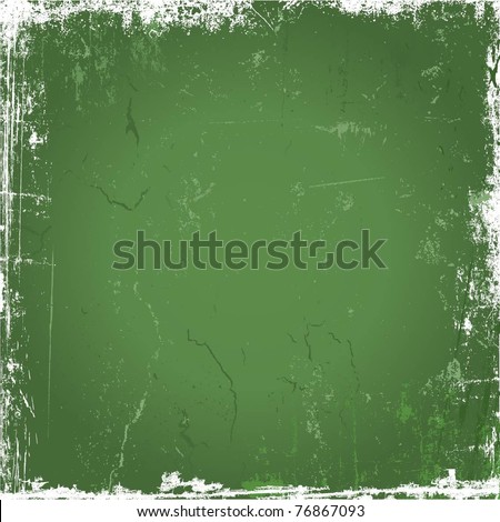 Green grunge background - stock vector