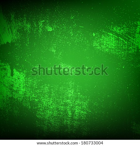 Green Grunge Texture for your design. EPS10 vector. - stock vector