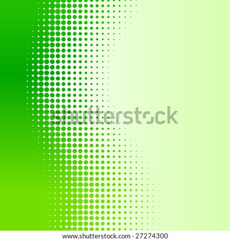 Green half-tone background. Vector illustration. - stock vector