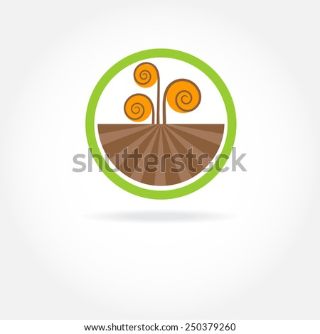 Green healthy nature agricultural logo - stock vector
