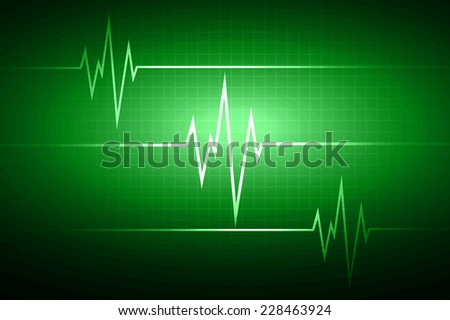 Green Heart pulse Light Abstract Technology background for computer graphic website and internet.