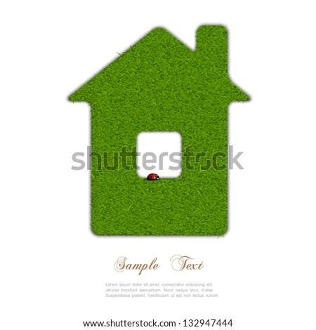 Green home. Concept-eco vector illustration - stock vector