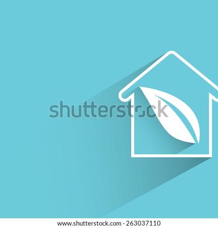 green house, eco home - stock vector