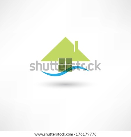 green house symbol - stock vector