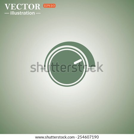 Green icon on a green background. Volume control icon, vector illustration, EPS 10 - stock vector