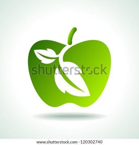 green Icon save environment concept - stock vector