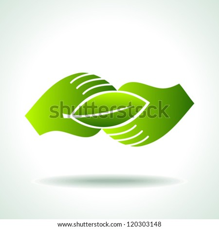 green Icon save environment concept - stock vector