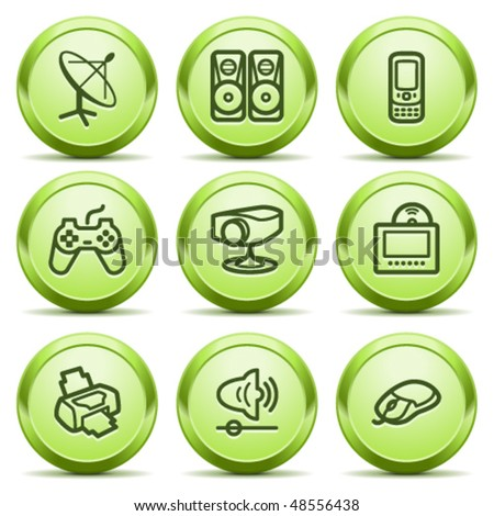 Green icon with button 21