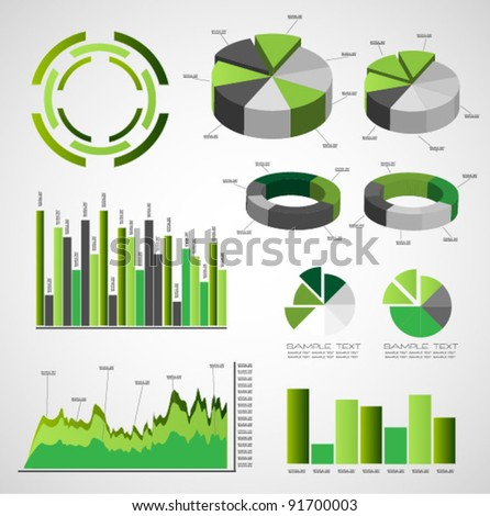 green infographic vector - stock vector