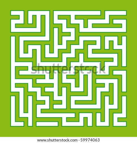 Green Labyrinth - stock vector