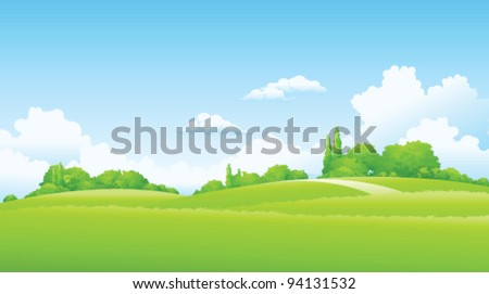 Green Landscape - stock vector