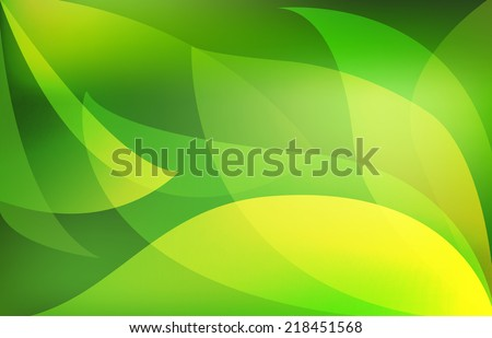 Green leaves. Abstract Vector background - stock vector