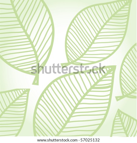 Green leaves background - stock vector