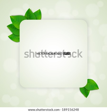 Green leaves background. EPS10 vector - stock vector